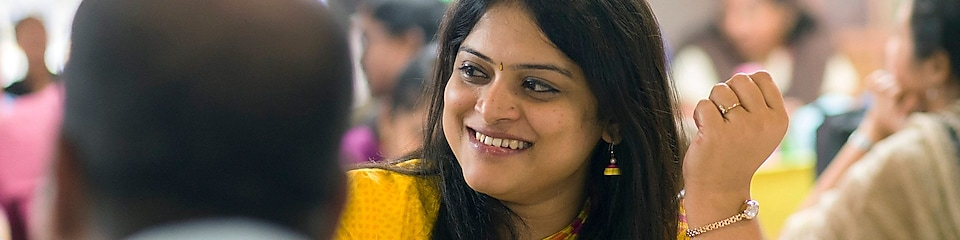 Shell employees during lunch