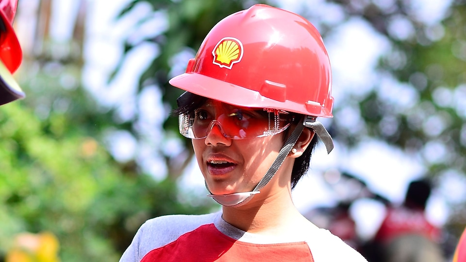 First time building a house from scratch – participated in Shell Indonesia's giving back to the community program, Habitat for Humanity.