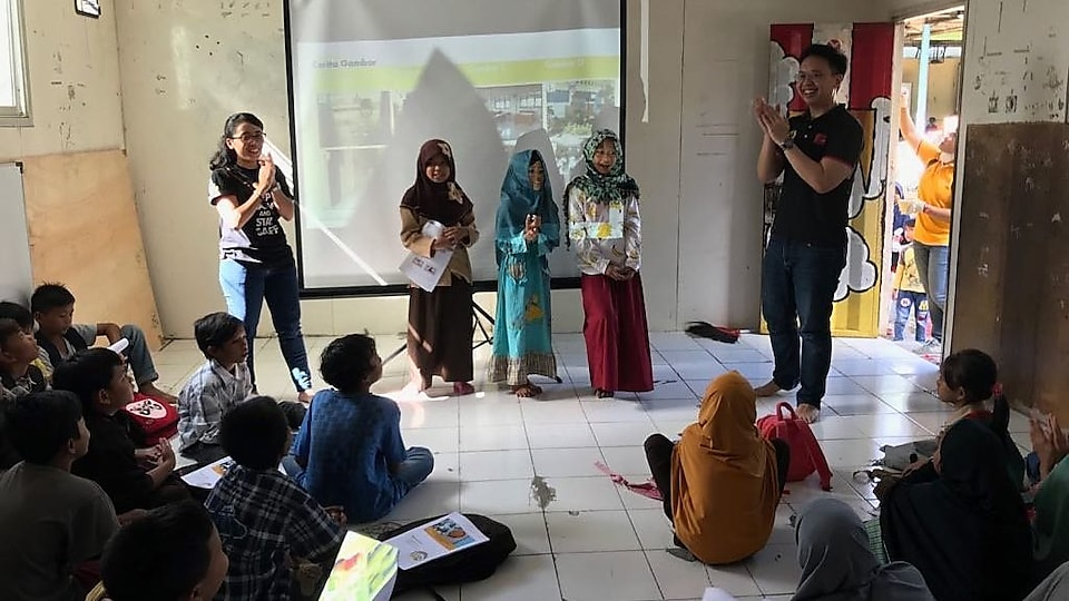 We have also collaborated with our business partners to teach under-privileged children throughout Indonesia.