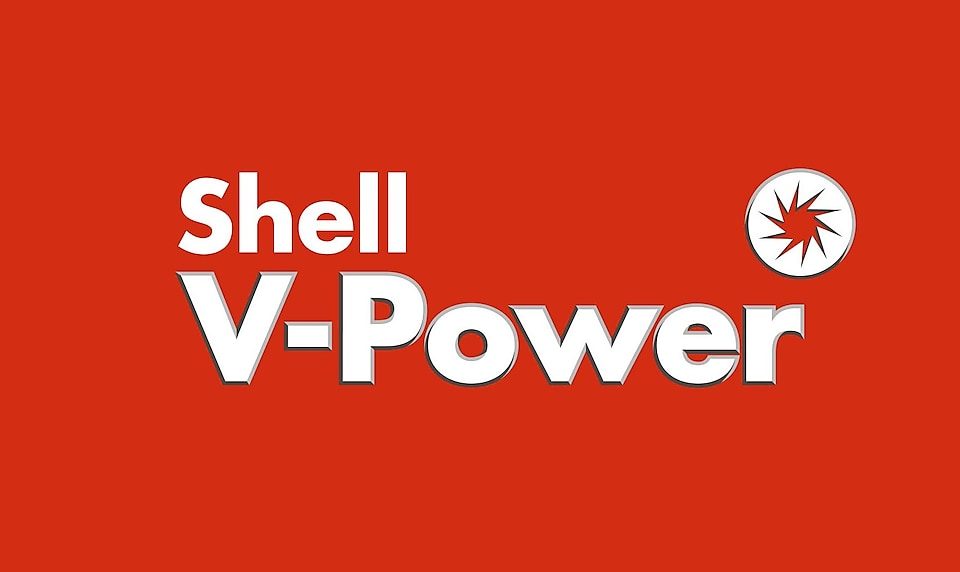 Shell V-Power signon a Shell station