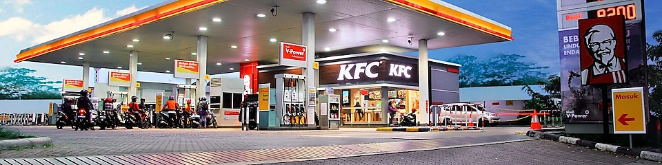 Shell station with KFC onsite